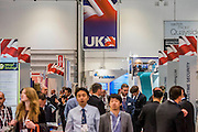 The DSEI (Defence and Security Equipment International) exhibition at the Excel Centre, Docklands, London UK 15 Sept 2015