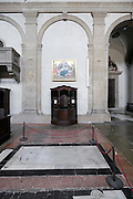 confessional and graves inside church , San Miniato al Monte, Florence, Italy