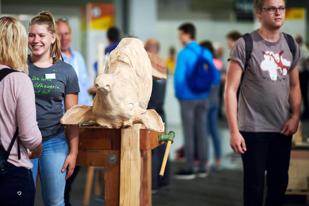 Holzbildhauer/in EFZ, Sculpteur sur bois CFC / Sculptrice sur bois CFCScultore su legno (AFC) / Scultrice su legno (AFC), Netzwerk KleinstberufeRéseau métiers rares, Rete microprofessioni. © Manu Friederich