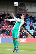 Plymouth Argyll defender Niall Canavan (14) during the EFL Sky Bet League 1 match between Scunthorpe United and Plymouth Argyle at Glanford Park, Scunthorpe, England on 27 October 2018. Pic Mick Atkins