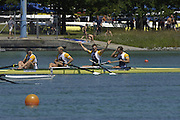 2005 FISA Rowing World Cup Munich,GERMANY. 19.06.2005; GBR M4- Gold medal winners. stroke Andy Twiggs Hodge, Alex Partridge, Peter Reed and Steve Williams. Photo  Peter Spurrier. .email images@intersport-images.[Mandatory Credit Peter Spurrier/ Intersport Images] Rowing Course, Olympic Regatta Rowing Course, Munich, GERMANY