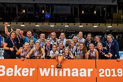 17-02-2019 NED: National Cupfinal Sliedrecht Sport - Apollo 8, Zwolle<br /> Favorite Sliedrecht too big for Apollo 8 in cup final and win 3-0 / Team Sliedrecht Sport
