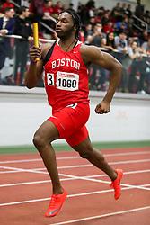 BU Terrier Indoor track meet<br /> 4x400 relay, Boston U, Onwuzurike