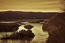 Lancaster county park view of Susquehanna River near Holtwood Dam. Nature, stock photo