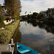 Street life from Venice, California, including the famed boardwalk as well as the Venice Canals. boat, canoe, rowboat