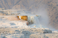 Terraces of Canary Spring, part of Mammoth Hot Springs, Yellowstone National Park