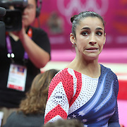 Alexandra Raisman, USA, Bronze Medal winner in the  Gymnastics Artistic Women's Apparatus, Beam final at North Greenwich Arena during the London 2012 Olympic games London, UK. 7th August 2012. Photo Tim Clayton