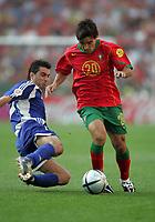PORTO 12/06/04 PORTUGAL V GREECE (0-2) EURO 2004 <br />DECO (PORTUGAL)<br />THEODOROS ZAGORAKIS (GREECE)<br />PHOTO CARLO BARONCINI FOTOSPORTS INTERNATIONAL