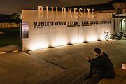 Bijlokesite lit by lighting plan of Roland Jéol, Ghent, Belgium 01/11/2014