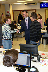 09.02.2011, Cope Radio Station, Madrid, ESP, Royals at Radio Station, im Bild Prinz Felipe und Prinzessin Letizia besuchen die Cadena Cope Radio Station // Prince Felipe and Princess Letizia visit Cadena Cope Radio Station in Madrid, EXPA Pictures © 2011, PhotoCredit: EXPA/ Alterphotos/ Acero/ Alfaqui/ Miguel Cordoba