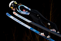 February 7, 2019 - Ljubno, Savinjska, Slovenia - Lucile Morat of France competes on qualification day of the FIS Ski Jumping World Cup Ladies Ljubno on February 7, 2019 in Ljubno, Slovenia. (Credit Image: © Rok Rakun/Pacific Press via ZUMA Wire)