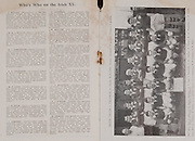 Irish Rugby Football Union, Ireland v Scotland, Five Nations, Landsdowne Road, Dublin, Ireland, Saturday 23rd February, 1952,.23.2.1952, 2.23.1952,..Referee- Mr Ivor David, Welsh Rugby Union,..Score- Ireland 12 - 8 Scotland, ..Irish Team, ..J G M W Murphy, Wearing number 15 Irish jersey, Full Back, Dublin University Rugby Football Club, Dublin, Ireland, ..W H J Millar, Wearing number 14 Irish jersey, Right Wing, Queens University Rugby Football Club, Belfast, Northern Ireland, ..N J Henderson, Wearing number 13 Irish jersey, Right centre, Queens University Rugby Football Club, Belfast, Northern Ireland,..J Notley, Wearing number 12 Irish jersey, Left centre, Wanderers Rugby Football Club, Dublin, Ireland,..M F Lane,  Wearing number 11 Irish jersey, Left wing, University college Cork Football Club, Cork, Ireland, .. J W Kyle, Wearing number 10 Irish jersey, Stand Off, Queens University Rugby Football Club, Belfast, Northern Ireland,..J A O'Meara, Wearing number 9 Irish jersey, Scrum, University college Cork Football Club, Cork, Ireland,  ..T Clifford, Wearing number 1 Irish Jersey, Forward, Young Munster Rugby Football Club, Limerick, Ireland, ..K Mullen, Wearing number 2 Irish Jersey, Forward, Old Belvedere Rugby Football Club, Dublin, Ireland, ..J H Smith, Wearing number 3 Irish jersey, Forward, Collegians Rugby Football Club, Belfast, Northern Ireland, ..P J Lawlor, Wearing number 4 Irish jersey, Forward, Clontarf Rugby Football Club, Dublin, Ireland,..A O'Leary, Wearing number 5 Irish jersey, Forward, Cork Constitution Rugby Football Club, Cork, Ireland,..M Dargan, Wearing number 6 Irish Jersey, Forward, Old Belvedere Rugby Football Club, Dublin, Ireland, ..D J O'Brien, Wearing number 7 Irish jersey, Forward, Captain of the Irish team, Cardiff Rugby Football Club, Cardiff, Wales, and, Old Belvedere Rugby Football Club, Dublin, Ireland, ..J S McCarthy, Wearing number 8 Irish jersey, Forward, Dolphin Rugby Football Club, Cork, Ireland, ..Scottish Team,..I H M Thoms