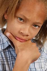 Portrait of boy thinking