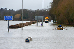 ***TODAY PICTURE***© Licensed to London News Pictures. 12/02/2014. Old Windsor, UK Flooding in OLD WINDSOR in Surrey today 12th February 2014 after the River Thames burst its banks. The Environment Agency has issued 14 Severe Flood Warnings alone the Thames. Photo credit : Stephen Simpson/LNP