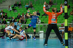 Tamara Mavsar of Krim during handball match between RK Krim Mercator (SLO) and Larvik (NOR) in 3rd Round of Women's EHF Champions League 2015/16, on October 30, 2015 in Arena Stozice, Ljubljana, Slovenia. Photo by Grega Valancic / Sportida