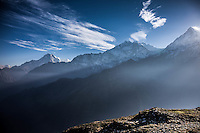 Views of the Annapurna Range from Khopra Ridge