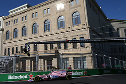 June 23, 2017 - Baku, Azerbaijan - Motorsports: FIA Formula One World Championship 2017, Grand Prix of Europe, .#11 Sergio Perez (MEX, Sahara Force India F1 Team) (Credit Image: © Hoch Zwei via ZUMA Wire)