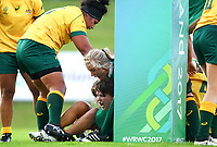 Rugby Union - 2017 Women's Rugby World Cup (WRWC) - Pool C: Ireland vs. Australia<br /> <br /> Ireland's Ciara Griffin scores a try, at the UCD Bowl, Dublin.<br /> <br /> COLORSPORT/KEN SUTTON