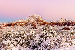 Winter Sunrise, Sedona Arizona.   It is a rare and wonderful day when the crowds are shut out of this tourist Mecca because of closed roads because of a sever winter storm. What was even better,  I couldn't even leave.     These are desert conditions photographers dream about. <br /> <br /> Custom Prints Available.