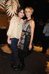 Left to right, ALEXA CHUNG and KIMBERLEY STEWART at a party hosted by Mulberry to celebrate the publication of The Meaning of Sunglasses by Hadley Freeman held at Mulberry 41-42 New Bond Street, London on 14th February 2008.<br /><br />NON EXCLUSIVE - WORLD RIGHTS