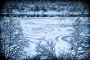 Mysterious ice circles on Swan River
