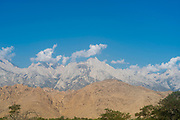 Morning view of Mt. Whitney from Lone Pine, California.