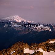 Glacier Peak high up in the Cascade Range in North Cascades National Park, WA.
