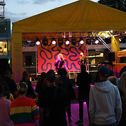 Celebrate the best in queer (LGBTQI+) culture with theatre, dance and music performs by Nostalgia of Mothership at part of the Raze Collective Weekend at Royal Festival Hall Riverside Terrace, Level 2 on 10 August 2018, London, UK.