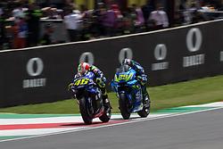 June 3, 2018 - Italie - VALENTINO ROSSI - ITALIAN - MOVISTAR YAMAHA MotoGP - YAMAHA.ANDREA IANNONE - ITALIAN - TEAM SUZUKI ECSTAR - SUZUKI (Credit Image: © Panoramic via ZUMA Press)