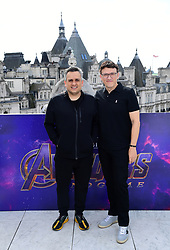 Joe Russo and Anthony Russo attending a photocall for Avengers: Endgame, at the Corinthia in London.