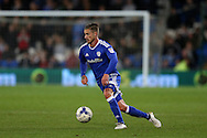 Joe Bennett of Cardiff city in action .EFL Skybet championship match, Cardiff city v Sheffield Wednesday at the Cardiff city stadium in Cardiff, South Wales on Wednesday 19th October 2016.<br /> pic by Andrew Orchard, Andrew Orchard sports photography.