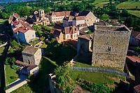 France, Saône-et-Loire (71), Semur-en-Brionnais, labellisé Les Plus Beaux Villages de France, collégiale Saint-Hilaire // France, Burgundy, Saône-et-Loire, Semur-en-Brionnais, Saint-Hilaire Collegiate
