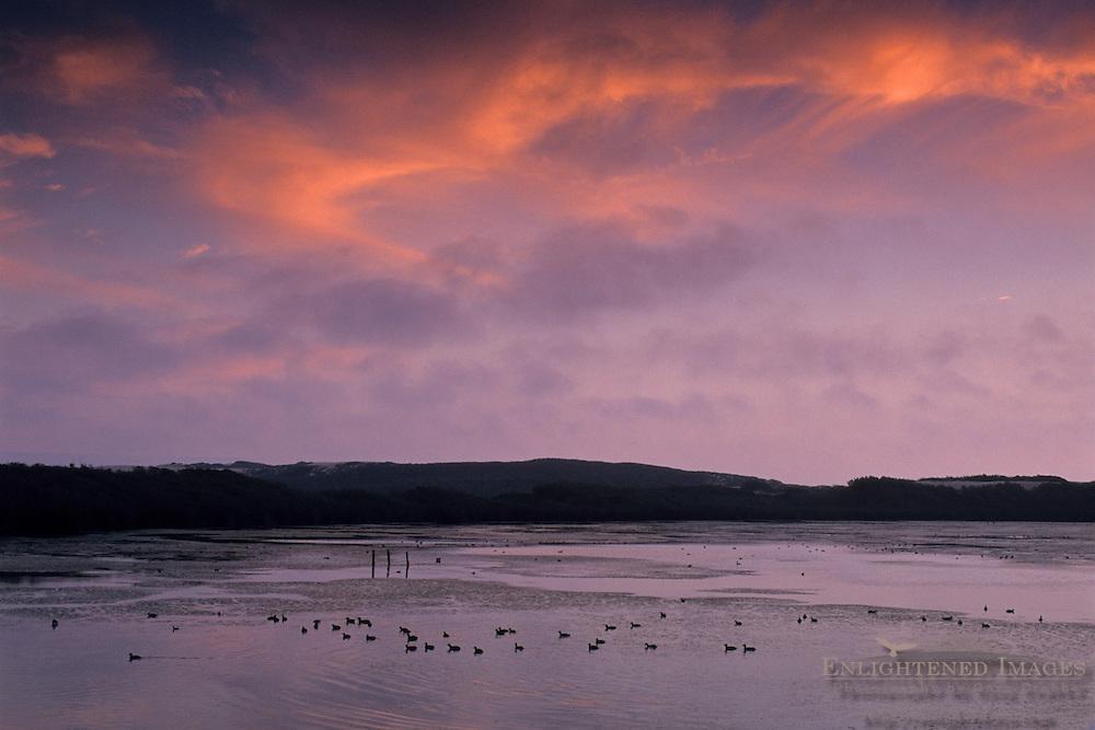 Sunset at Oso Flaco Lake, Guadalupe - Nipomo Dunes San Luis Obispo County, CALIFORNIA
