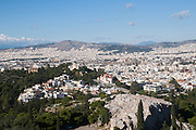 Greece, Athens, view of the city from Acropolis Hill