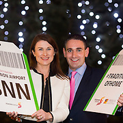 08.12.2016                   <br /> Pictured at the launch of the Shannon Airport Christmas Racing Festival at Hunt Museum were, Mary Considine, Shannon Group and Conor O'Neill, Limerick Racecourse. Picture: Alan Place