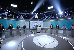 September 30, 2018 - Sao Paulo, Sao Paulo, Brazil - Sao Paulo, Sao Paulo, Brazil - Sep, 2018 - Penultimate debate of the first round of the elections between the candidates for the presidency of Brazil held on Rede Record television, this Sunday (30) in Sao Paulo. (Credit Image: © Marcelo Chello/ZUMA Wire)