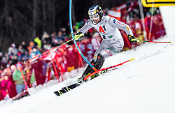 """29.01.2019, Planai, Schladming, AUT, FIS Weltcup Ski Alpin, Slalom, Herren, 1. Lauf, im Bild Manfred Moelgg (ITA) // Manfred Moelgg of Italy in action during his 1st run of men's Slalom """"the Nightrace"""" of FIS ski alpine world cup at the Planai in Schladming, Austria on 2019/01/29. EXPA Pictures © 2019, PhotoCredit: EXPA/ JFK"""