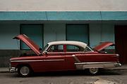 A broken car on a street in Havana, Cuba. FOTO TM