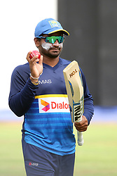 July 6, 2018 - Sri Lanka - Sri Lankan crickter Kusal Janith Perera looks on bat at a practice session in the R.Premadasa Stadium in Colombo on July 6, 2018. Sri Lanka and South Africa will play two Tests, five 50-over One-Day Internationals (ODIs), and one T20 in Sri Lanka between July 12 and August 14. The first Test between South African and Sri Lanka will be played on July 12 at the Galle International Cricket Stadium in Galle (Credit Image: © Lahiru Harshana/Pacific Press via ZUMA Wire)