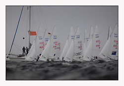 470 Class European Championships Largs - Day 3.Brighter conditions with more wind..Men, Start, Startline