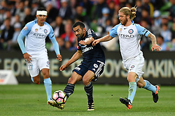 December 17, 2016 - Melbourne, Victoria, Australia - FAHID BEN KHALFALLAH (14) of the Victory kicks the ball in the round 11 match of the A-League between Melbourne City and Melbourne Victory at AAMI Park, Melbourne, Australia. Victory won 2-1 (Credit Image: © Sydney Low via ZUMA Wire)