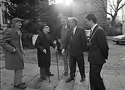 taoiseach charles haughy visits christmas dinner party for poor 25/12/1989
