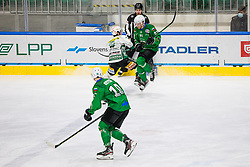 91# Tadej Cimzar of HK SZ Olimpija during the match of Alps Hockey League 2020/21 between HK SZ Olimpija Ljubljana vs. EC Bregenzerwald, on 09.01.2021 in Hala Tivoli in Ljubljana, Slovenia. Photo by Urban Meglič / Sportida