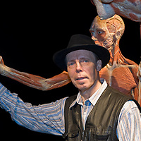 Dr Gunther von Hagens returns with the latest instalment of the controversial blend of anatomy lesson, theatrical presentation and showbiz hype that is Body Worlds. This time, the focus is on life cycles and ageing, as  more than 200 plastinated human and animal specimens, including a 16 ft giraffe, show bodies living through time ­ growing, maturing, diyng....***Licence Fee's Apply To All Image Use***.XianPix Pictures  Agency  tel +44 (0) 845 050 6211 e-mail sales@xianpix.com www.xianpix.com