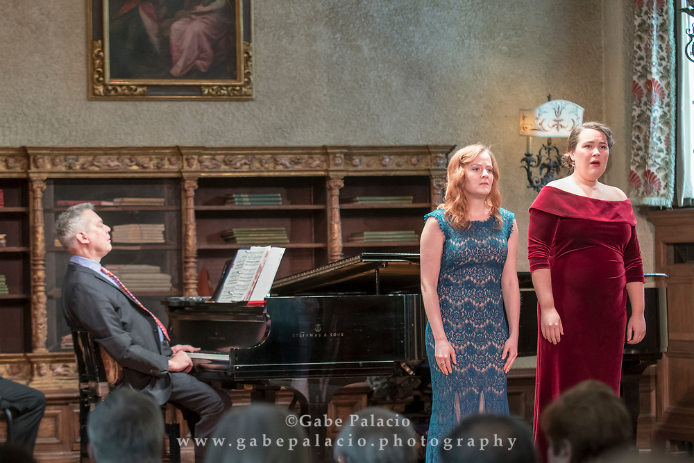 Vocal Rising Stars performance in the Music Room of the Rosen House at Caramoor in Katonah New York on March, 12, 2017.<br /> photo by Gabe Palacio. Pictured: Steven Blier, Hannah Dishman, Christine Taylor Price