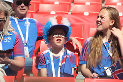 June 16, 2018 - Moscow, Russia - Russian Federation. Moscow. Arena Spartacus. FIFA World Cup 2018. Argentina - Iceland. Team player of Argentina Fans; viewers; Fans. (Credit Image: © Russian Look via ZUMA Wire)