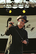 Boy George during his live appearance at the Amphitheatre of Our Dynamic Earth, during the outdoor launch of the Skoda Fringe Gala, part of the Edinburgh Festival Fringe....