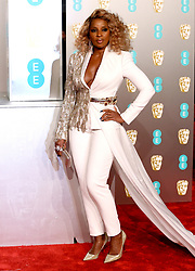 Mary J. Blige attending the 72nd British Academy Film Awards held at the Royal Albert Hall, Kensington Gore, Kensington, London.