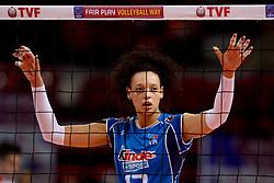 09-01-2016 TUR: European Olympic Qualification Tournament Turkije - Italie, Ankara<br /> De strijd om de tweede Japan ticket / Valentina Diouf #17 of Italie