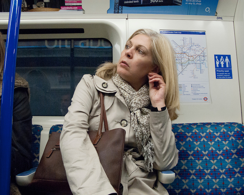 Portrait of a female on the London Underground Network